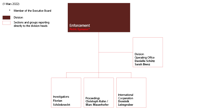 Enforcement division organisation chart